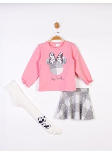 Minnie Mouse  Etekli Takım Ve K.Çorap 16137 Pembe
